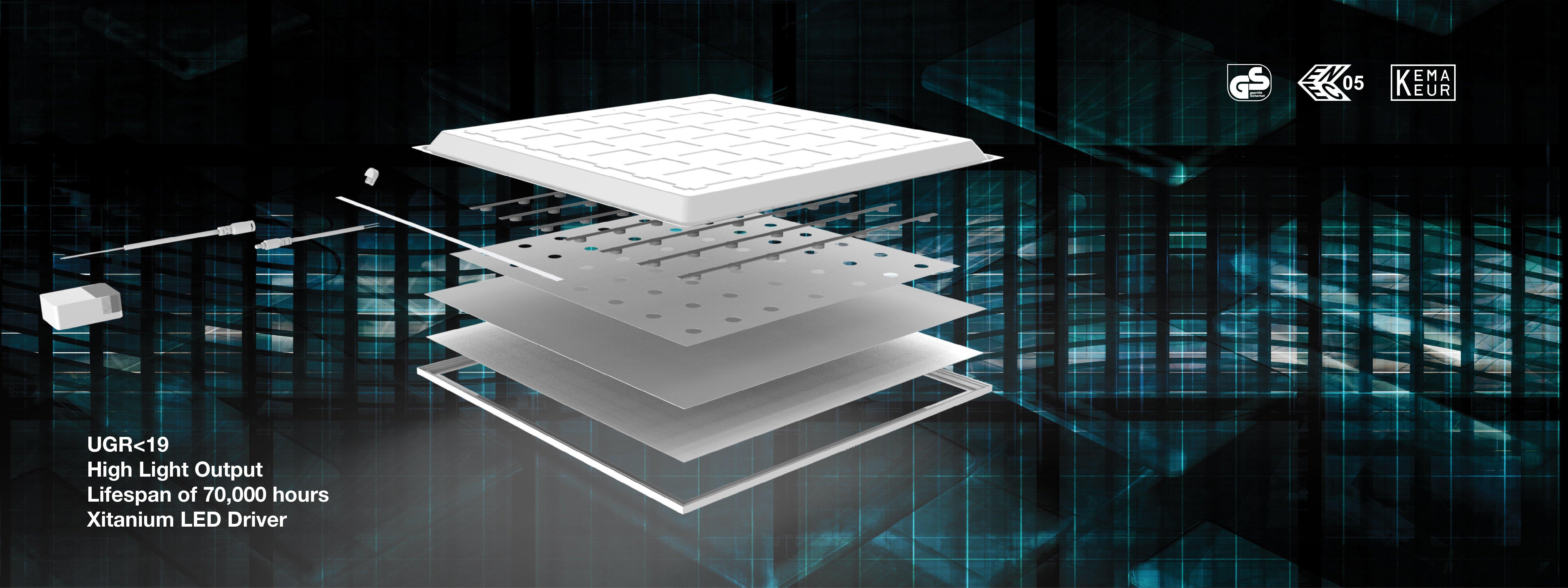 LED Panel Delta Pro UGR<19 V2.0 Series